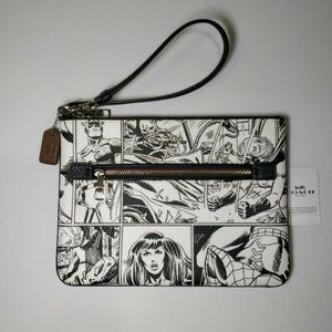 NWT Coach Marvel Gallery Pouch Comic Book …
